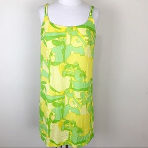 Vintage 60s 70s Mod Swimsuit Dress Floral Large